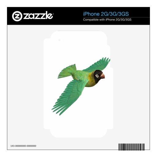 Lovebird negro de Cheeked Calcomanía Para El iPhone 2G