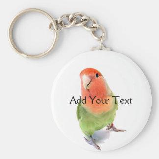 Lovebird on White Key Chains
