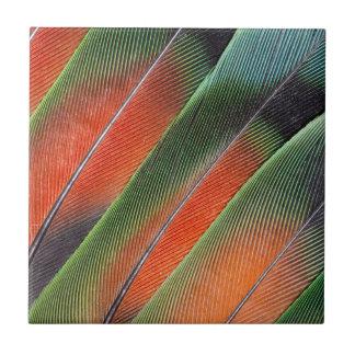 Lovebird Tail Feather Design Ceramic Tile