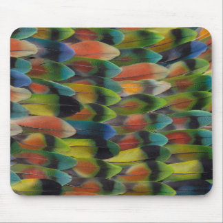 Lovebird Tail Feather Pattern Mouse Pad