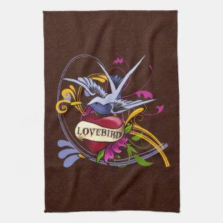 Lovebird Tattoo Design Hand Towels