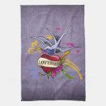 Lovebird Tattoo Hand Towels