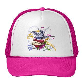 Lovebird Tattoo Mesh Hats