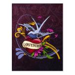 Lovebird Tattoo Post Cards