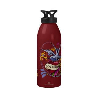 Lovebird Tattoo Water Bottle