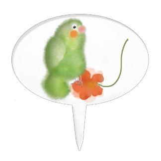 Lovebird verde decoraciones para tartas