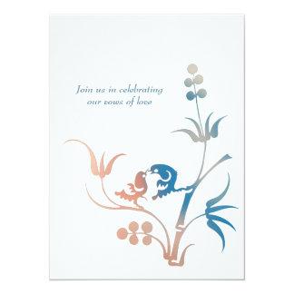 Lovebird Wedding Vows Card