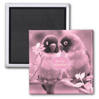 Lovebirds 2 Inch Square Magnet