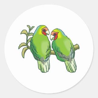 Lovebirds (2) pegatina redonda