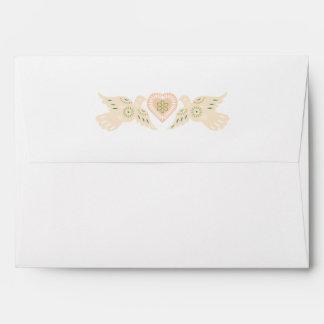 Lovebirds A7 envelope on Felt