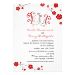 Lovebirds and Cherry Blossoms Wedding Invitations