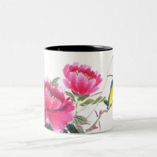 Lovebirds and Flowers Coffee Mug