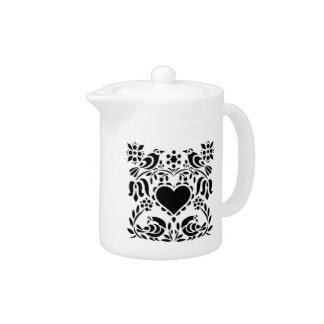 Lovebirds and Heart Teapot