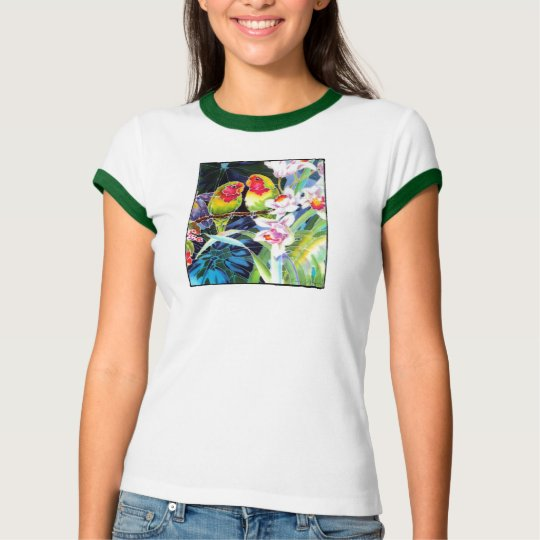 Lovebirds and Orchids Shirt Tee