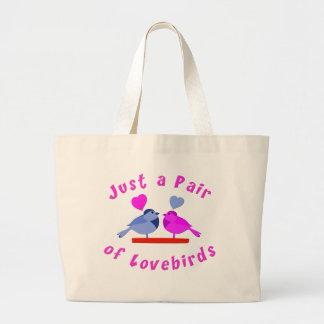 Lovebirds Jumbo Tote Bag