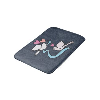 Lovebirds Bath mat Bath Mats