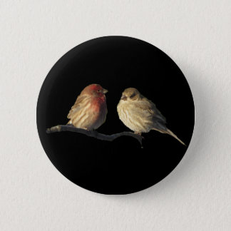 Lovebirds Button