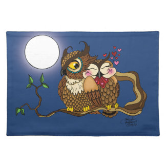 Lovebirds Cloth Placemat