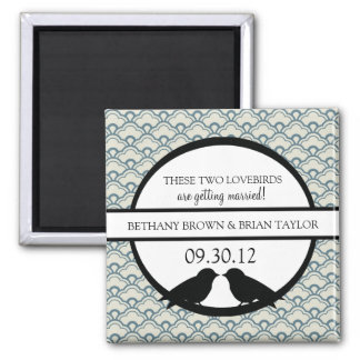 Lovebirds Collection Save the Date Magnet