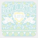 Lovebirds Customized Square Sticker