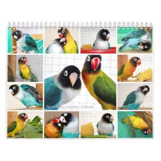 Lovebirds de los Peniques-Pico Calendarios De Pared