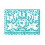 Lovebirds de Papel Picado que casan la tarjeta de Tarjetas De Visita Grandes