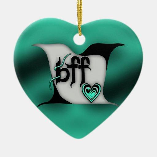 lovebirds del ~ del bff ornaments para arbol de navidad