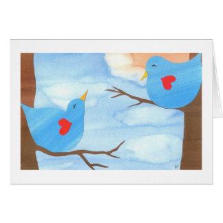Lovebirds del el día de San Valentín de Liz Wang Tarjetón