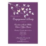 "Lovebirds Engagement Party Invitation 5"" X 7"" Invitation Card"
