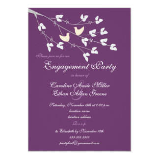 Lovebirds Engagement Party Invitation