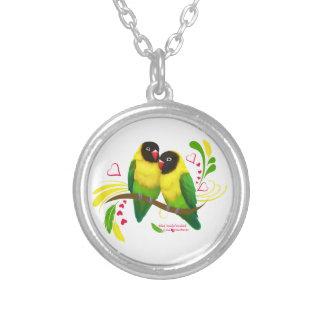 Lovebirds enmascarados negro grimpolas personalizadas