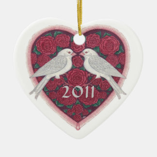 Lovebirds' First Christmas Ornament