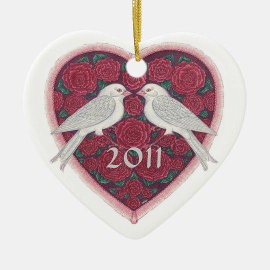 Lovebirds' First Christmas Ornament