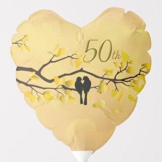 Lovebirds Golden Anniversary Balloon