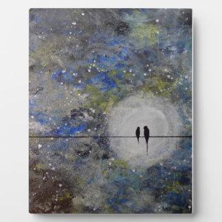 Lovebirds in a Storm Display Plaque