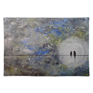 Lovebirds in a Storm Placemat