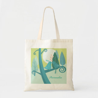 Lovebirds In Moonlight Budget Shopping Tote Bag