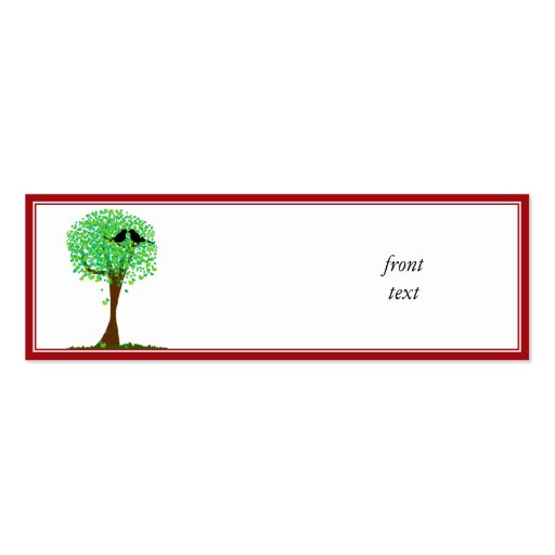 Lovebirds in Tree of Hearts - Summer Love Business Card Templates