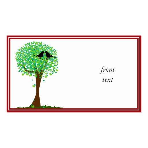 Lovebirds in Tree of Hearts - Summer Love Business Cards