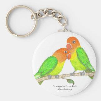 Lovebirds Keychain
