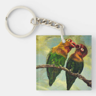 Lovebirds Keyring