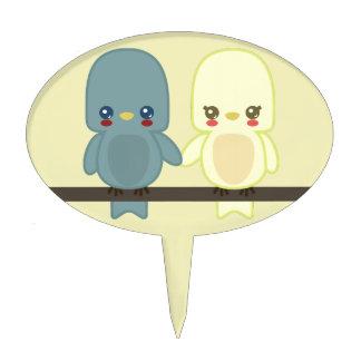 Lovebirds lindos ct palillos de tarta