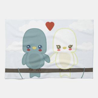 Lovebirds lindos ct toallas de mano