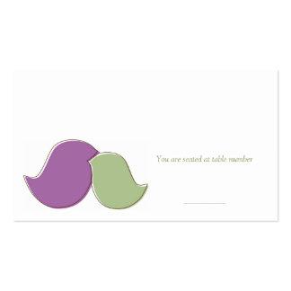 Lovebirds modernos, tarjetas del lugar tarjetas de visita