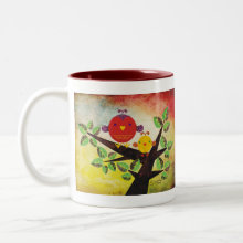 Lovebirds Mug - Great gift for a baby shower, mother's day, new mom, or just for showing your love and affection to that special person!