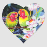 Lovebirds n Orchids Tropical Print Stickers