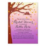 "Lovebirds oak tree hearts bridal shower love1 4.5"" x 6.25"" invitation card"