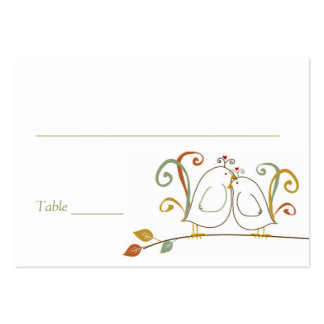 Lovebirds on Branches Place Cards Large Business Card