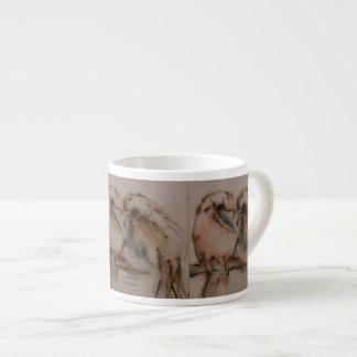 Lovebirds on Teacup Espresso Cup