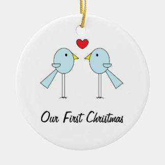 """Lovebirds"" Ornament"